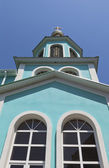 Belfry Church of the Nativity of the Blessed Virgin in Lazarevsky, Sochi, Russia — ストック写真
