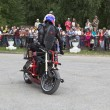 Постер, плакат: Stunts on a motorcycle in the performance Alexei Kalinin