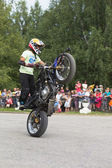 Motor Show in village Verkhovazhye, Vologda Region, Russia. Thomas Kalinin — Stock Photo