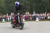 Stunts on a motorcycle by Aleksey Kalinin — Stock Photo