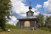 Old chapel in a village Vakhrushevo, Verkhovazh ye district, Vologda region, Russia — Stock Photo
