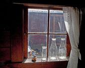 Antique Milk bottle in farm house. — Stock Photo