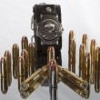 Bullets with skull — Stock Photo