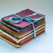 Three old books — Stock Photo