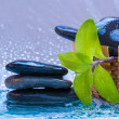 Spa still life with zen stone for banner — Stock Photo
