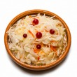 Sauerkraut on clay dish — Stock Photo