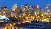 Downtown Edmonton in Winter — Stock Photo