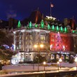 Empress Hotel in Winter — Stock Photo