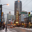Stock Photo: Vancouver's Granville Street in winter