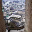 View overlooking Salzburg from the Fortress - Stock Photo