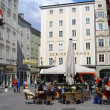 Relaxing in a Salzburg Square — Stock Photo