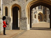 Lone soldier at Windsor Castle — Stock Photo