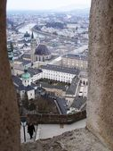 View overlooking Salzburg from the Fortress — Stock Photo