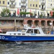 Police Boat in Berlin — Stock Photo