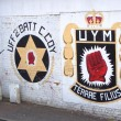 Stock Photo: Sectarian murals in Belfast, Northern Ireland
