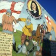 Stock Photo: Oliver Cromwell mural in Belfast