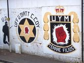 Sectarian murals in Belfast, Northern Ireland — Stockfoto
