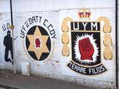 Sectarian murals in Belfast, Northern Ireland — Stock Photo