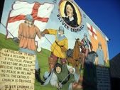 Oliver Cromwell mural in Belfast — Stock Photo
