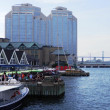 View along the Halifax Waterfront (Purdy's Wharf). — Stock Photo