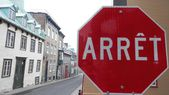 Stop Sign in Quebec City — Stock Photo