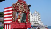 Traditional Punch and Judy puppet show at Llandudno, Wales — Foto de Stock