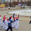 Olympic Torch Relay in Novosibirsk — Stock Photo