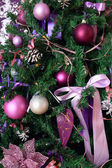 Fragment of a Christmas tree — Stock Photo