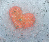 Pink heart in bubbles — Stock Photo