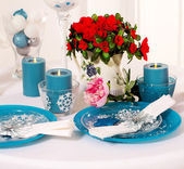 Elegant place settings — Stock Photo