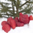 Royalty-Free Stock Photo: Strawberries in snow