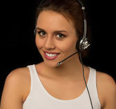 Girl from customer services — Stock Photo
