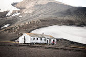 Old house in Antarctica — Stock fotografie