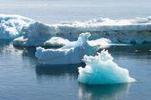 Deffirent formen der eisberge, antarktis — Stockfoto