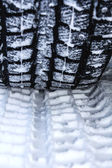 A trace of the tread on the snow — Stock Photo