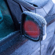 Foto Stock: Heated mirrors in car