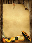 Pirate Background — Stock Photo