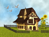 Fantasy cottage — Stock Photo