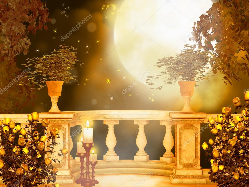 Moonlight in the enchanted garden — Stock Photo #14616789