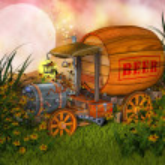 Fantasy beer cart — Stock Photo #14812115