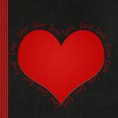 Sevgi dolu kalp — Stok fotoğraf