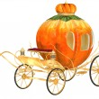 Stock Photo: Cinderellfairy tale pumpkin carriage, isolated