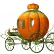 Stock Photo: Cinderella fairy tale pumpkin carriage, isolated