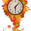 Autumn clock — Stock Photo
