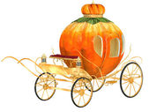 Cinderella fairy tale pumpkin carriage, isolated — Stock fotografie