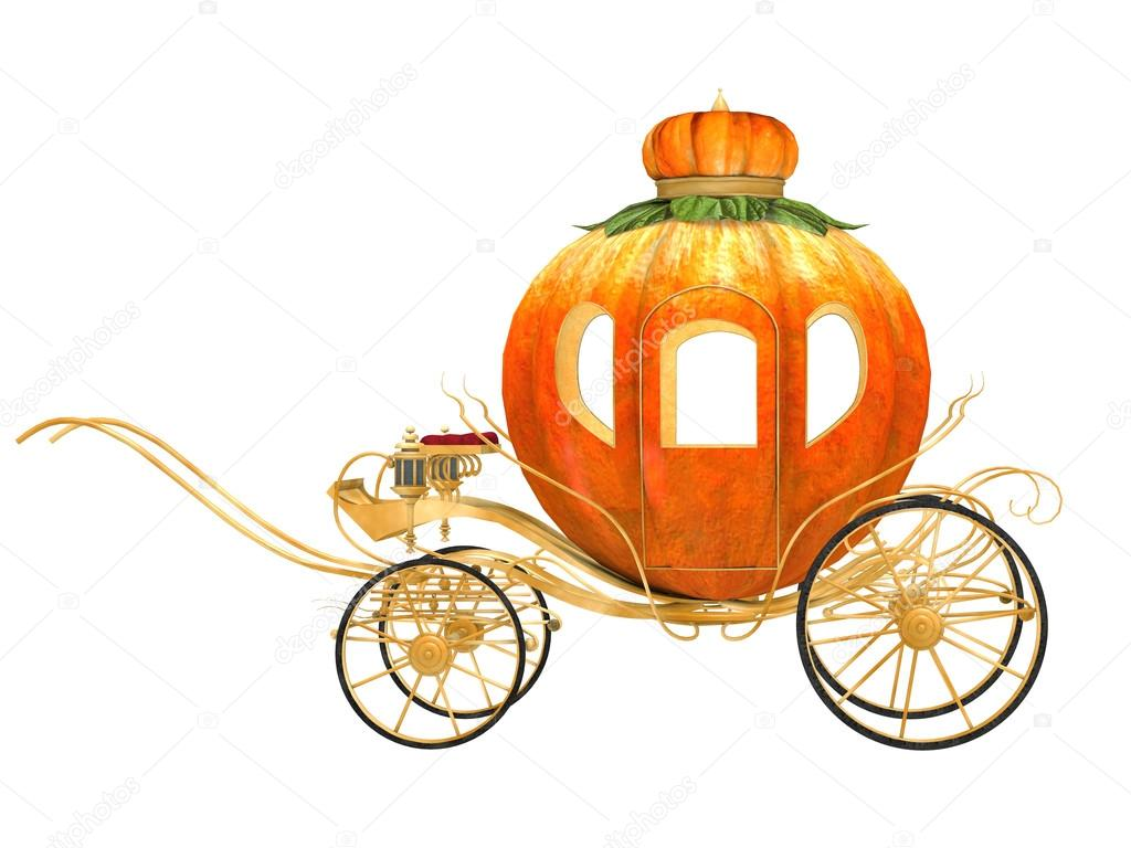 Cinderella fairy tale pumpkin carriage, isolated — Stock Photo #16164773