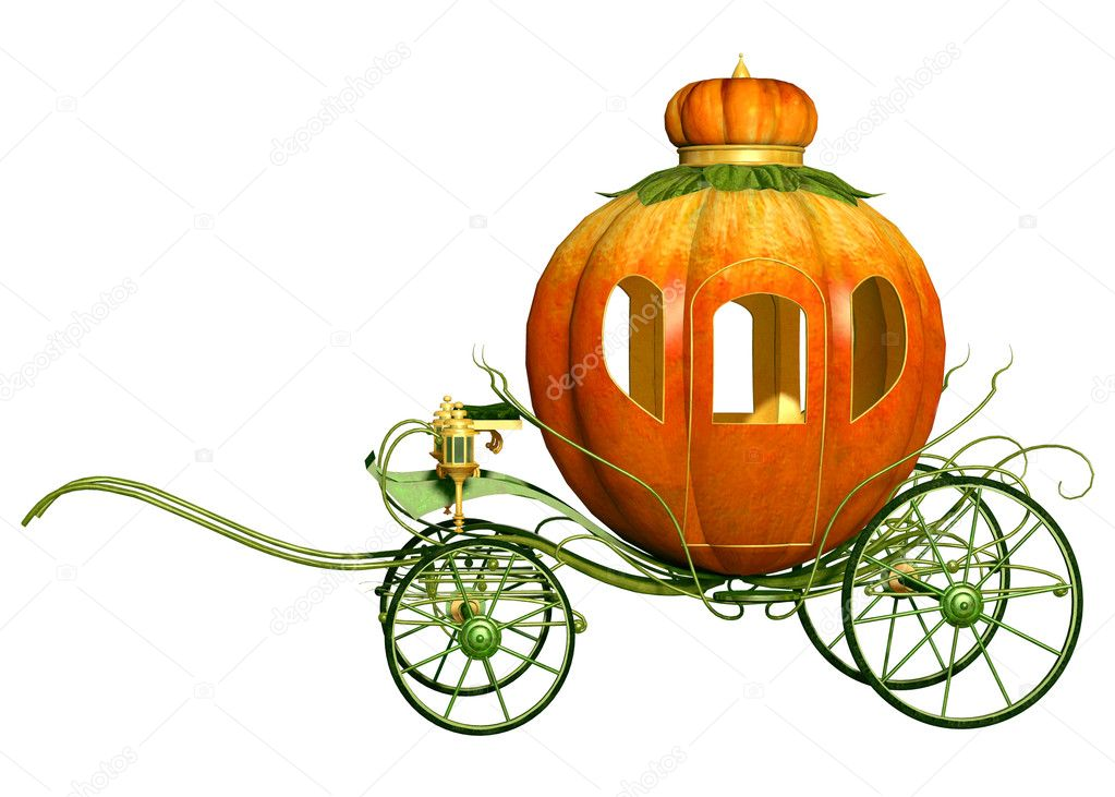 Cinderella fairy tale pumpkin carriage, isolated — Stock Photo #16164795