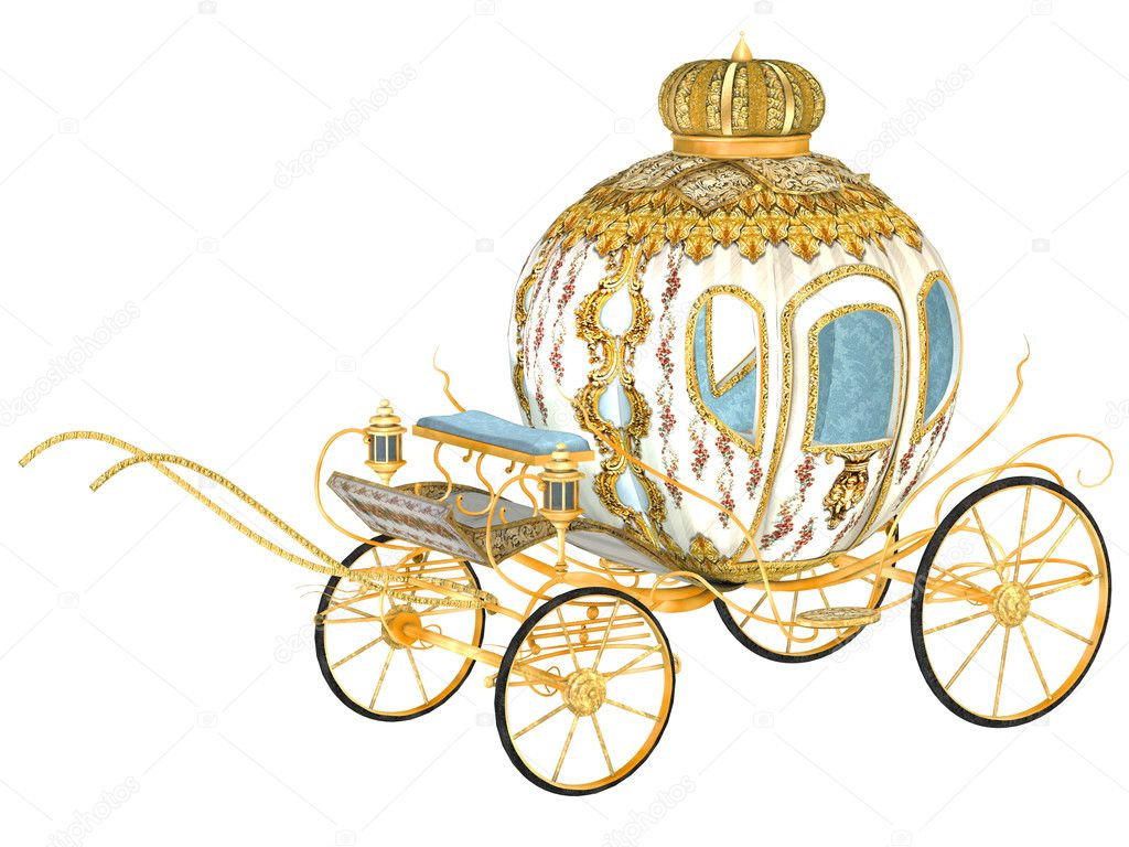 fairy tale royal carriage, isolated — Photo #16164803
