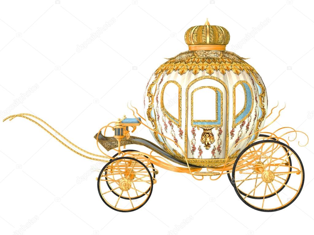 fairy tale royal carriage, isolated — Stock Photo #16164805