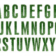 Stock Photo: Grass Alphabet